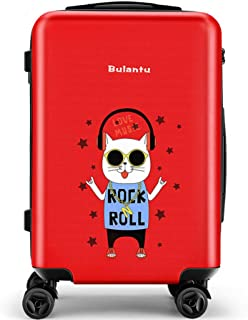 YCYHMY Trolley case Cartoon Adult ABS Hard Shell 4 Wheel Portable Suitcase Password Box Portable Suitcase Trolley case Cartoon Adult red