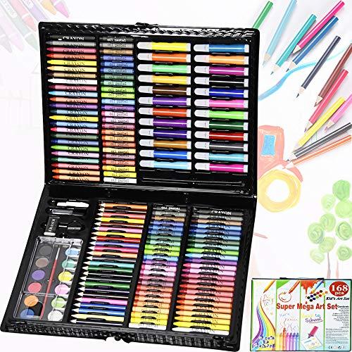 HENGMEI 168 teilig Buntstifte Set Malsets Kinder Farbstifte Malset Zeichenset Buntstifte Set Zeichnung Werkzeug