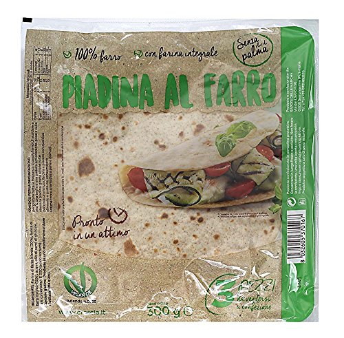 Piadina al Farro VEGANA 300g (n.1 cartone con 10 confezioni da 300g) SAPORI DELLE MARCHE