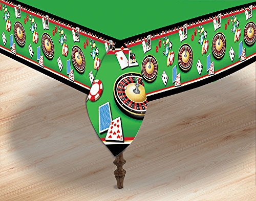 Forum Novelties X77552 Casino - Funda para mesa, color verde, talla única