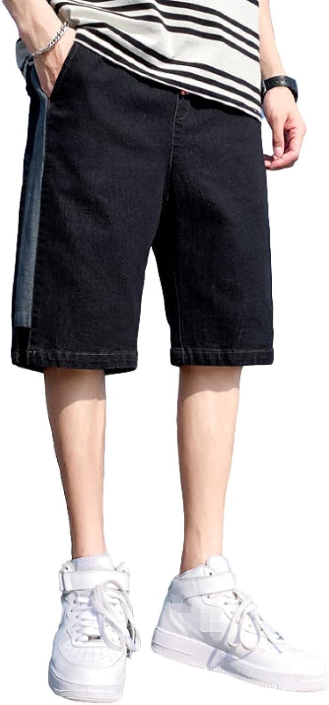 Katenyl Men's Price reduction Denim Ranking TOP7 Shorts Stitching Lar Trend Relaxed Patchwork