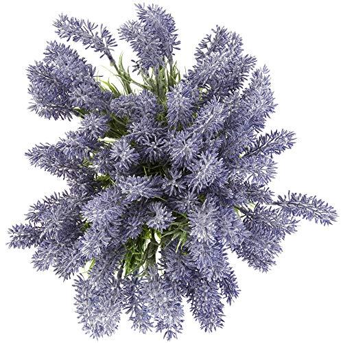 Artificial Lavender Flowers for Decorations (Purple, 12 Pack)