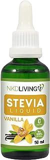 Gotas líquidas de estevia pura 50 ml - Sabor a vainilla - incluye botella con gotero