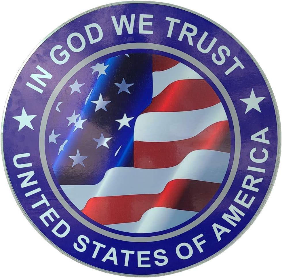 Over item handling Swordsaxe Department store Circular US American Flag Plaque Patri Décor Home Wall