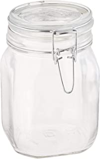 Bormioli Rocco B071RRRZNY Fido Clear Glass Jar with 85 mm Gasket, 1 Liter (Pack of 2)