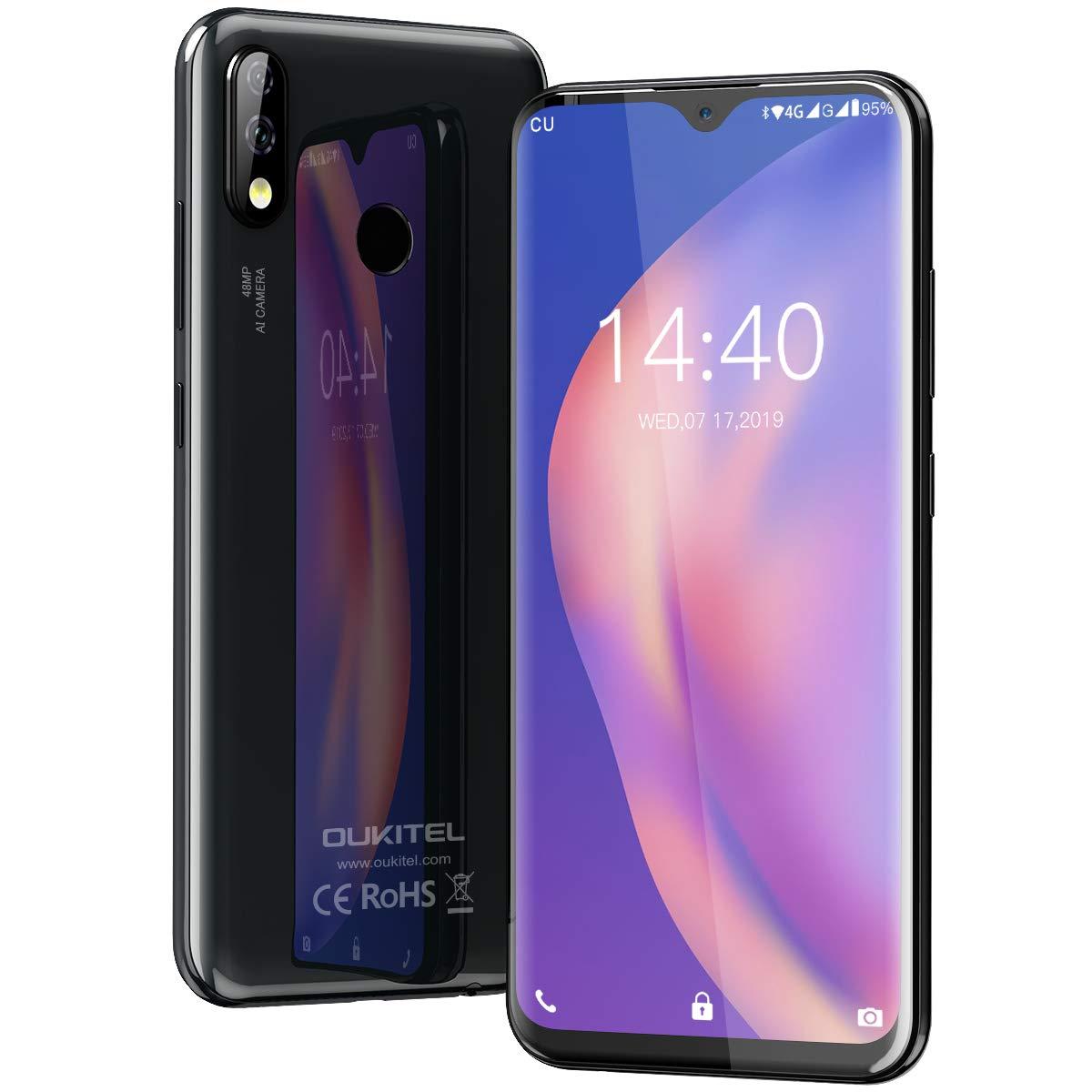 Moviles Libres, OUKITEL Y4800 Smartphone Libre, 6.3 FHD+ Pantalla, Helio P70 Octa-Core 6GB + 128GB Teléfono Moviles Libres, 4000mAh, Cámara 48MP+16MP+5MP, Android 9.0 4G Dual SIM Smartphone: Amazon.es: Electrónica