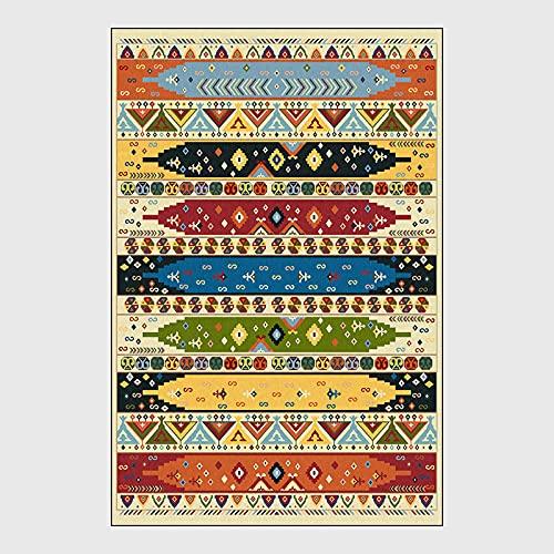 YXYOL Alfombra ViníLica HidráUlica,Alfombra De DiseñO,Oriente Marruecos,Estilo éTnico GeoméTrico Colorido,For The Living Room,Dining Room,Bedroom,160 * 230CM