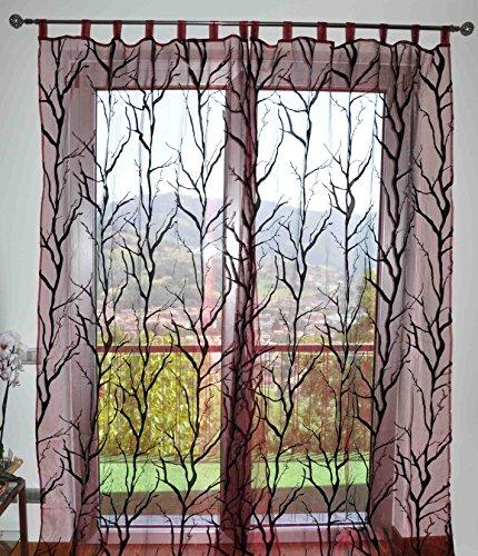 CASA TESSILE Jungle tendone 150x280 cm - Bordeaux