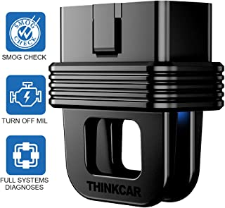 thinkcar 1S Bluetooth OBD2 Scanner 10 OBDII Test Modes Full Systems Diagnoses Black Box OBD Data Recording Portable Scan Tool for iOS & Android Devices