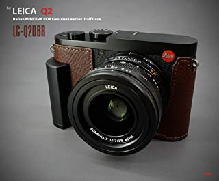 Lim's Design LC-Q2DBR Metal Grip Genuine Leather Camera Half Case for Leica Q2, Brown