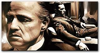 The Godfather Original Artwork Artist Signed Canvas Art Print (Large 36