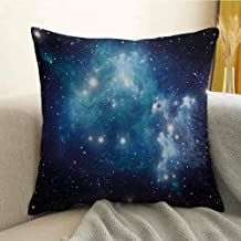 Antony Petty Space Microfiber Vibrant Celestial Supernova Scenery Dynamic Energy Andromeda Mystical Outer Space Picture Sofa Cushion Cover Bedroom car Decoration W16 x L24 Inch Blue