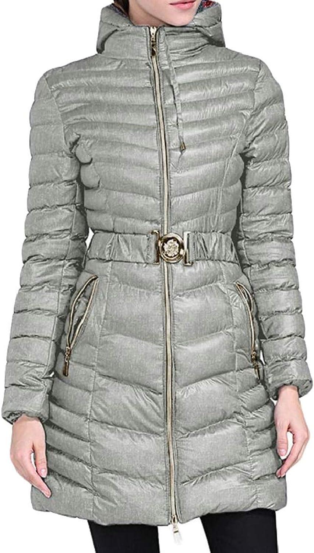 Gocgt Women's Hooded Winter Down Coat Warm Thickened Parka Jacket