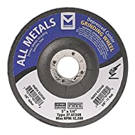 """Mercer Industries 623530 Type 27 Depressed Center Grinding Wheel, For All Metals, 5"""" x 1/4"""" x 7/8"""", 25-Pack"""