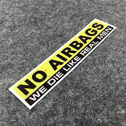 DXYMOO 2PCS Funny Warning NO AIRBAGS WE DIE Like Real Man Car Window Sticker Reflective Car Styling...