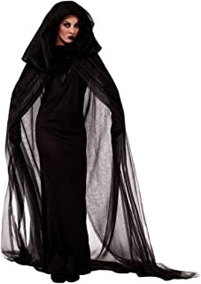 Aunimeifly Halloween Women Vampire Bride Cosplay Costume Vintage Horror Long Dress Gloves Cloak Cape Three-Piece Suit