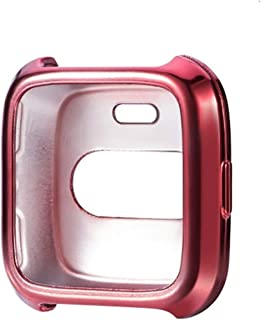 Watch Case Smart Watch Soft TPU Protective Case for Fitbit Versa (Color : Rose Red)
