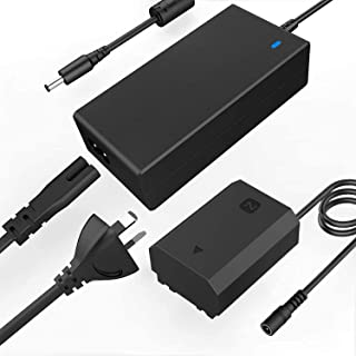 F1TP AC-FZ100 AC Power Supply Adapter NP-FZ100 DC Coupler kit (Replace Sony NP-FZ100 Battery) for Sony Alpha 9, A9, A9 ii,...