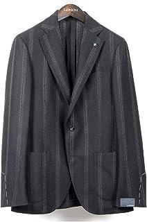 ラルディーニ LARDINI / 【国内正規品】 / 20-21AW!ウールジャカードストライプ3Bジャケット「JS0526AQ」 (ダークネイビー×ブラウン) メンズ