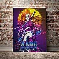 アバター伝説の少年アンレットポスターキャンバスウォールアートリビング用プリント子供部屋家の寝室の装飾絵画/ 60x80cm(フレームなし)