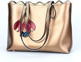 TMWDLSTB Fashion Leather Handbag Leisure Handbag Shoulder Bag Messenger Bag 34CM * 14CM * 26CM. small handbags for women (Color : Bronze)