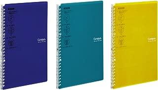 Kokuyo Campus Easy-Carry Slim Binder Smart-Ring B5 26-Ring Set OF 3 (Vivid Yellow, Turquoise & Purple, B5)