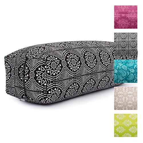 Yoga Bolster SALAMBA, rechteckig, Bezug aus Baumwolle abnehmbar,...