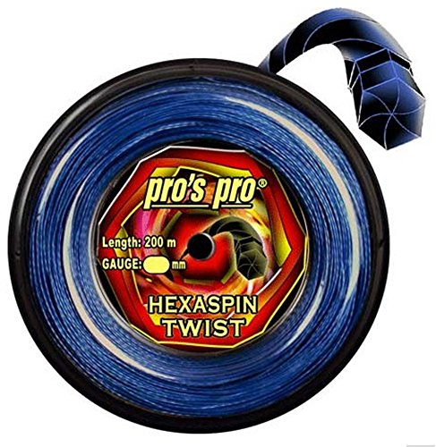 Pro Tenis Cordaje Hexaspin Twist 1,25mm de 200m Azul