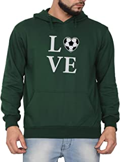 Swag Swami Unisex CottonLove Football HeartPrinted Hoodie | Hooded Sweatshirt