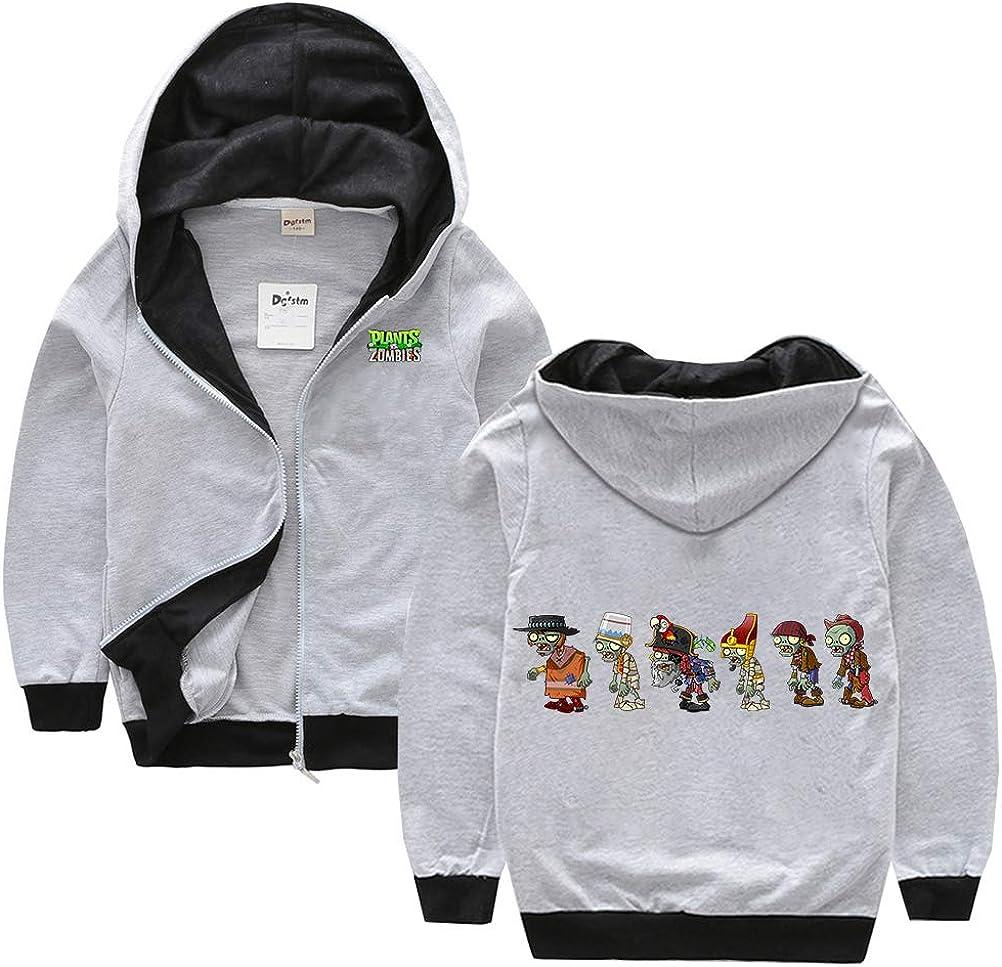 Zombies Pullover Sweatshirt Sweatshirt /él/égant Enfants imprim/és Casual Sweats /à capuche /à capuche classique Outwear Slim /épais /épais manteaux de sport chaud hiver veste de sport chaud les g Plants vs