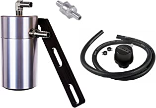 Elite Engineering Standard PCV Oil Catch Can & Hardware with Nickel Hose Barb Fittings, Check Valve & Clamps, Clean Side Separator for 2010+ Camaro LS3 (SS) and Z28 - CLEAR