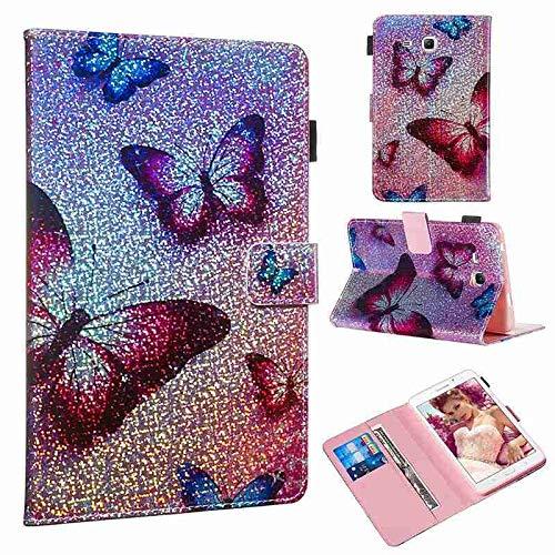 QiuKui Tab Funda para Samsung Galaxy Tab A 7.0 T280 T285, Cubierta de Protector de Soporte de Cuero con Brillo de Dibujos Animados para Samsung Galaxy Tab A 7.0 T280N