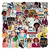 Popular Movie Hamilton Broadway Musicals Themed 50 Piece Sticker Decal Set for Kids Adults - Laptop Motorcycle Skateboard Decals