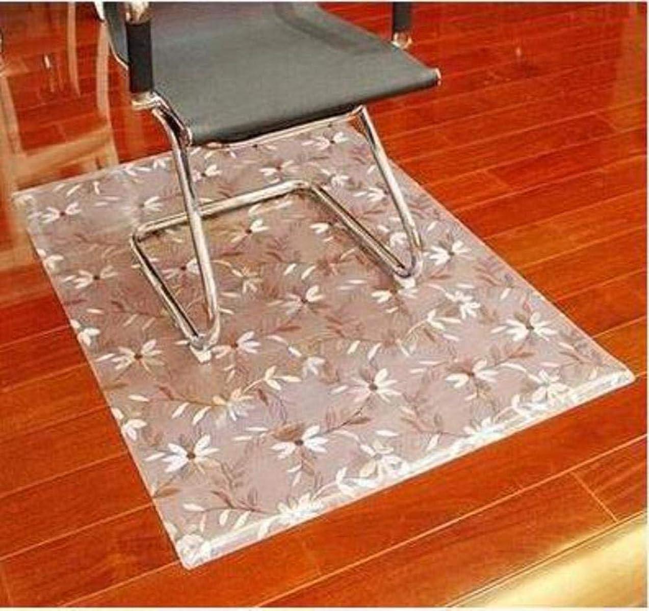 壊す正直壮大フィギュア オフィス デスク椅子マット パッド, アンチ スリップ 透明です 多目的 テーブル クロス ホーム オフィス コンピューター -A 100x120cm(39x47inch)