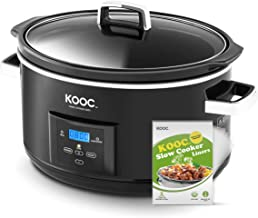 [NEW LAUNCH] KOOC 8.5-Quart Programmable Slow Cooker, Larger than 8 Quart, More Practical than 10 Quart, with Digital Coun...