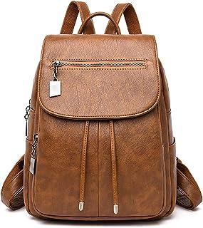 Wujianzzhobb حقيبة ظهر رياضية، حقائب ظهر جلدية، حقيبة كتف للنساء ذات سعة عالية حقيبة سفر حقيبة ظهر للسفر، حقيبة ظهر للسيدا...
