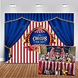 Mehofoto circus foto telón de fondo 7x5ft rayas rosa y blanco cortina azul telones de fondo fiesta de los niños decoración fondo de la fotografía
