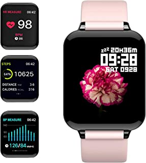 "feifuns Smart Watch,Fitness Tracker with Heart Rate/Blood Pressure/Oxygen Monitor,1.3"" Waterproof Health Exercise Watch Sleep Monitor Step Calorie Counter Fitness Watch for Men Women"