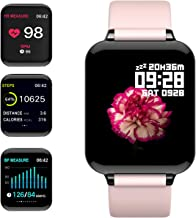 """feifuns Smart Watch,Fitness Tracker with Heart Rate/Blood Pressure/Oxygen Monitor,1.3"""" Waterproof Health Exercise Watch Sleep Monitor Step Calorie Counter Fitness Watch for Men Women"""