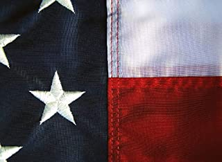Premium American Flag 3x5' - 100% Made in the USA - Durable, Long Lasting, Bright & Vivid Nylon Material - Densely Embroidered Stars, Sewn Stripes with Lock Stitching, Four Rows of Lock Stitching on the Fly End, Tough Enough for Both Commercial and Residential Usage, the Best US Flag You Will Own - By All Star Flags