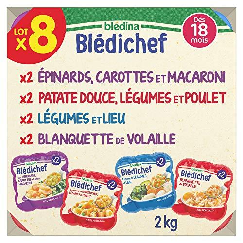 Blédina 8 Blédichef Dès 18 Mois 4 Recettes – 8 plats repas pour les bébés à partir de 18 mois