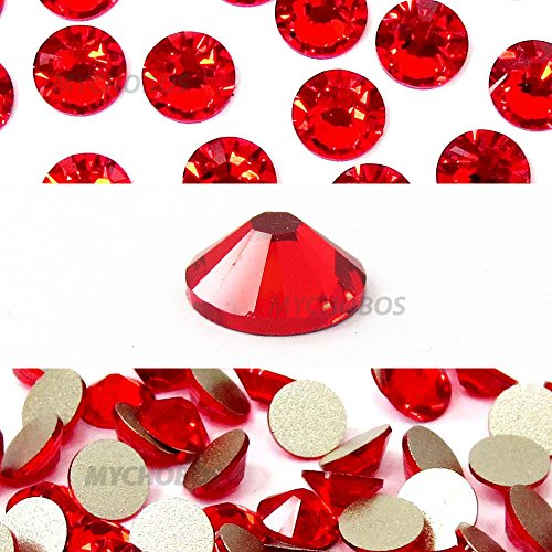 144 pcs Light Siam (227) Swarovski 2058 Xilion / NEW 2088 Xirius 20ss Flat backs Rhinestones 5mm ss20