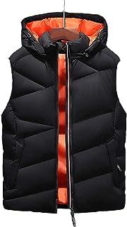MIKAMU ダウンベスト メンズ L-4XL 暖かい 防寒 アウトドアウェア 帽子付き 袖 なし ダウンベスト カジュアル メンズ 秋 冬服 厚手 ベスト