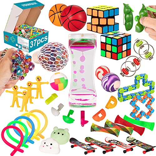 Fidget Toys, pingqian Sensory Toys Stress Relief and Anti-Anxiety Tools Bundle Fidget Packs for Kids...