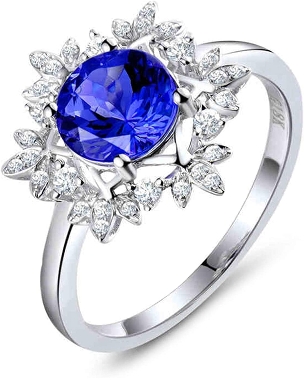 AMDXD Gold Ring 18K Girls Accessories Topics on TV Snowflake Super sale period limited Pr 4 Women