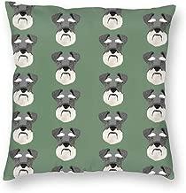 Pillowcases Schnauzer Head Dog Head Dogs Pets Pet - Medium Green for Sofa Bedroom livingroomTwo Sides Printing 18x18 inch