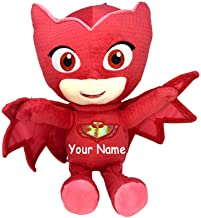 PJ Masks Personalized Owlette Superhero Plush Stuffed Animal Toy with Custom Name - 17 Inch