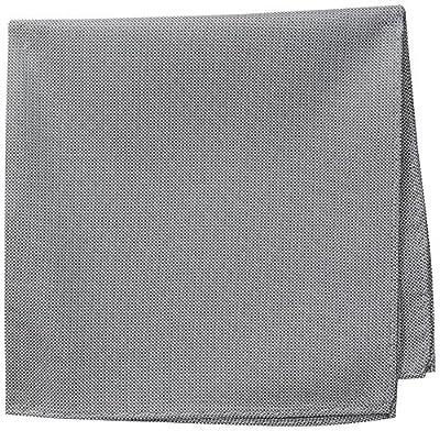 Ben Sherman Men's Core 100% Silk Pocket Square, Silver, One Size