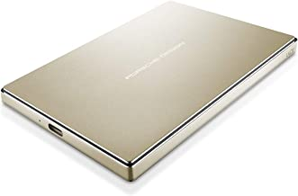 LaCie Porsche Design 2TB USB-C Mobile Hard Drive, Gold + 2mo Adobe CC Photography (STFD2000403)