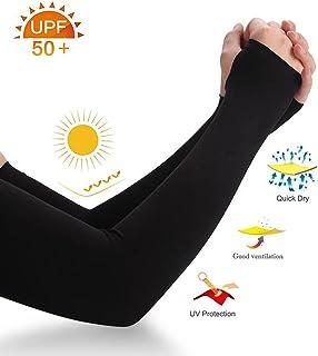 Bear Mall - Mangas de protección UV para hombres y mujeres, guantes de protección contra el sol, para correr, practicar golf o ciclismo, 1 par/3 pares